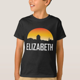 Elizabeth New Jersey Sunset Skyline T-Shirt