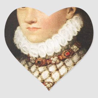 Elizabeth of Austria, Queen of France Heart Sticker