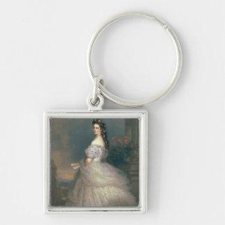Elizabeth of Bavaria Silver-Colored Square Keychain