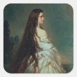 Elizabeth of Bavaria Square Stickers