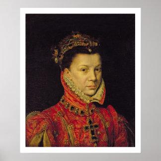 Elizabeth of Valois (1545-68) 1570 (oil on canvas) Poster