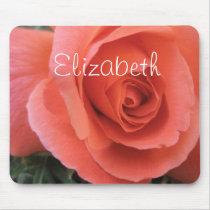 Elizabeth Orange Rose Personalized Mousepad