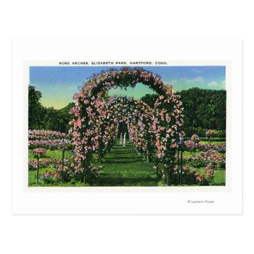 Elizabeth Park View of the Rose Arches Postcard