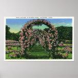 Elizabeth Park View of the Rose Arches Print