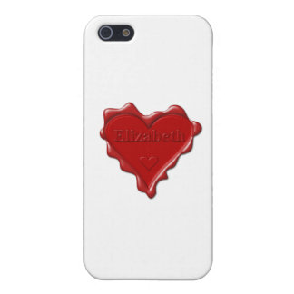 Elizabeth. Red heart wax seal with name Elizabeth Cover For iPhone SE/5/5s