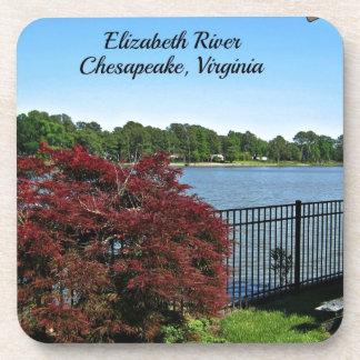 Elizabeth River, Chesapeake, Virginia Beverage Coaster