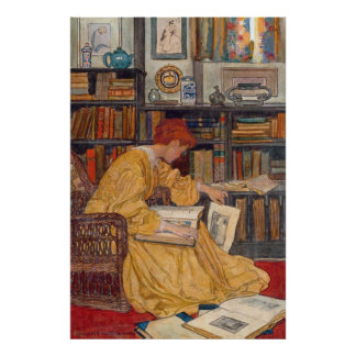 Elizabeth Shippen Green - The Library Poster