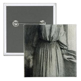 Elizabeth Siddal, May 1854 Pinback Button