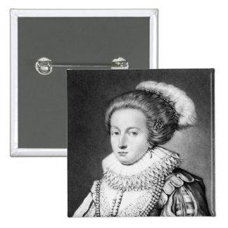 Elizabeth Stuart, Queen of Bohemia 2 Inch Square Button
