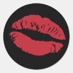 Elizabeth TailHer - pegatinas del labio (parte Etiquetas Redondas
