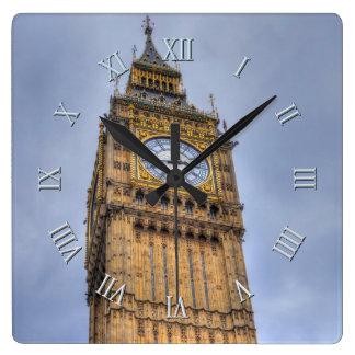Elizabeth Tower (Big Ben) Westminster, London, UK Square Wall Clock