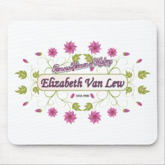 Elizabeth Van mujeres famosas de Lew de los E E Tapete De Ratón