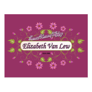 ~ Elizabeth Van/mujeres famosas de Lew de los Postal