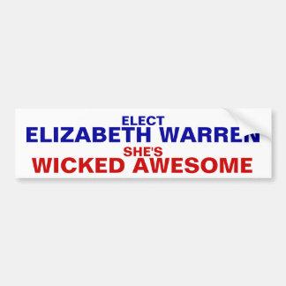 Elizabeth Warren 2012 bumper sticker