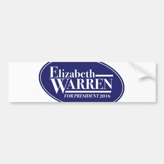 Elizabeth Warren 2016 bumper sticker