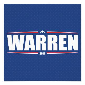 Elizabeth Warren 2016 (estrellas y rayas - azul) Arte Con Fotos