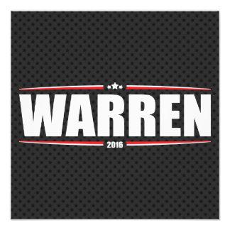Elizabeth Warren 2016 (estrellas y rayas - negro) Foto