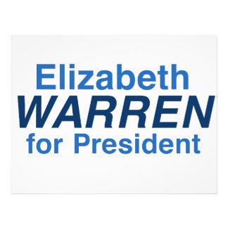 Elizabeth Warren 2016 Membretes Personalizados