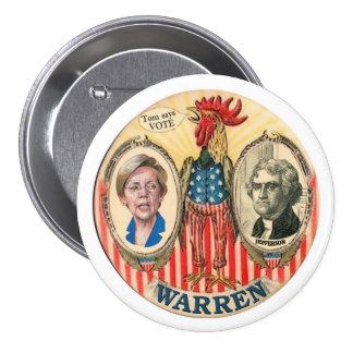 Elizabeth Warren 2016 Pin Redondo De 3 Pulgadas