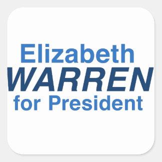Elizabeth Warren 2016 Square Sticker