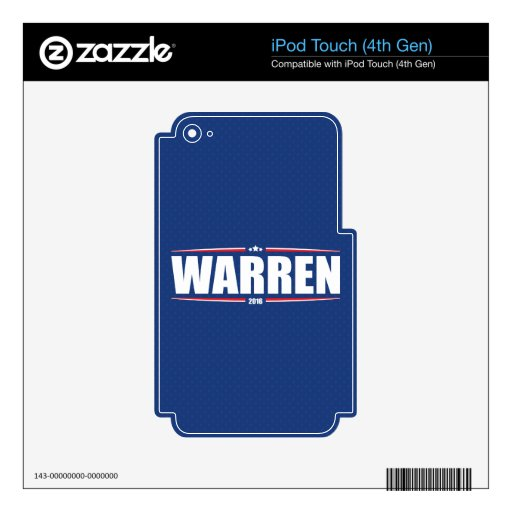 Elizabeth Warren 2016 (Stars & Stripes - Blue) Decal For iPod Touch 4G