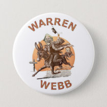 Elizabeth Warren and Jim Webb in 2016 Pinback Button