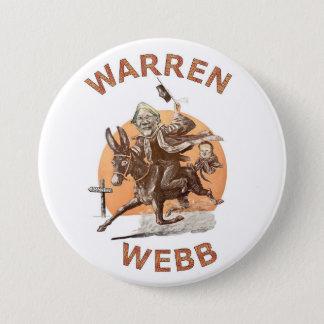 Elizabeth Warren and Jim Webb in 2016 Pinback Button
