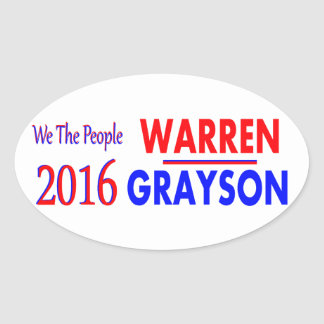 Elizabeth Warren for President 2016 Oval Sticker