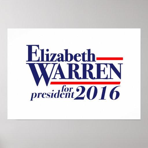 Elizabeth Warren for President 2016 poster