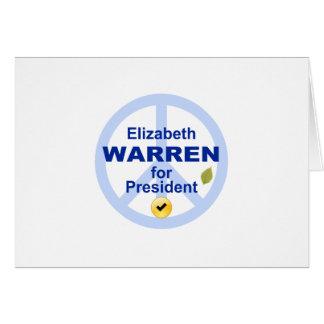 Elizabeth Warren for President Card