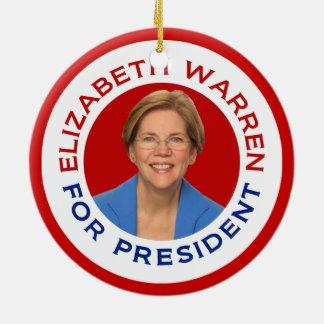 Elizabeth Warren For President Ceramic Ornament