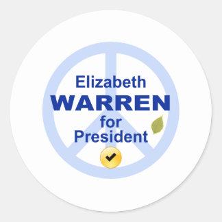 Elizabeth Warren for President Classic Round Sticker