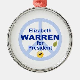 Elizabeth Warren for President Metal Ornament