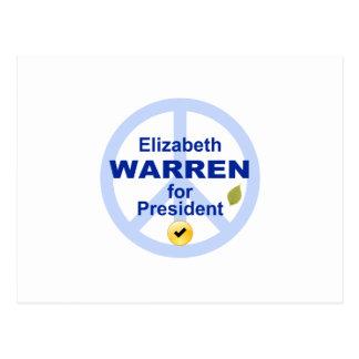 Elizabeth Warren for President Postcard