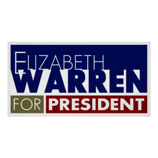 Elizabeth Warren for President Poster V1