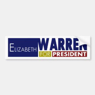 Elizabeth Warren for President V1 Bumper Stickers