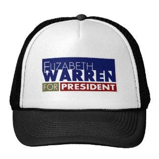 Elizabeth Warren for President V1 Hats