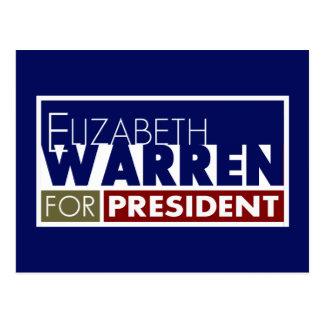 Elizabeth Warren for President V1 Postcard