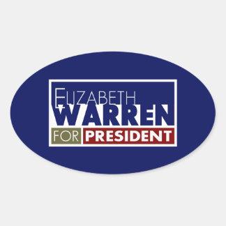 Elizabeth Warren for President V1 Oval Sticker