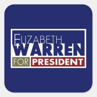 Elizabeth Warren for President V1 Square Stickers