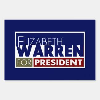 Elizabeth Warren for President V1 Yard Sign