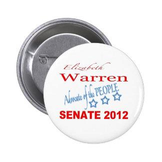 Elizabeth Warren for Senate 2012 2 Inch Round Button