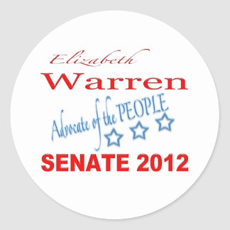 Elizabeth Warren for Senate 2012 Classic Round Sticker
