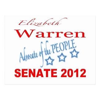 Elizabeth Warren for Senate 2012 Postcard