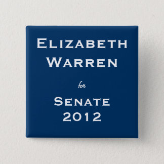 Elizabeth Warren for Senate Button