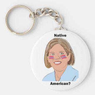 Elizabeth Warren - Native American? Basic Round Button Keychain