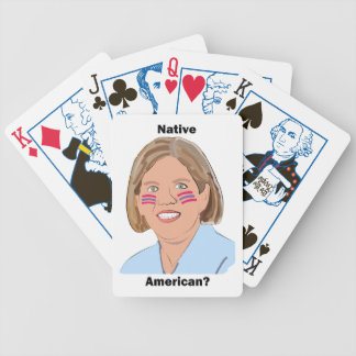 Elizabeth Warren - Native American? Bicycle Playing Cards