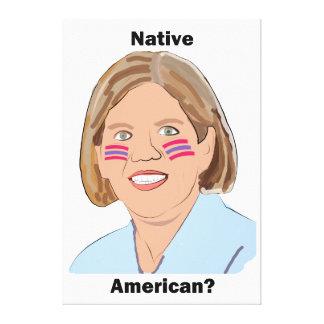 Elizabeth Warren - Native American? Canvas Print