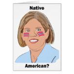 Elizabeth Warren - Native American? Stationery Note Card