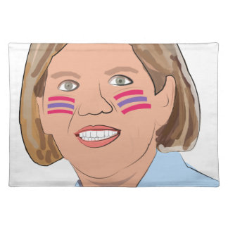 Elizabeth Warren - Native American? Cloth Place Mat